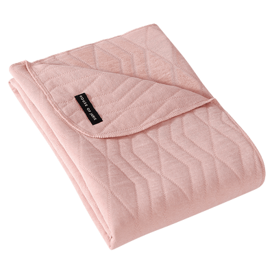 House Of Jamie - Blanket Geometry Jacquard Powder Pink