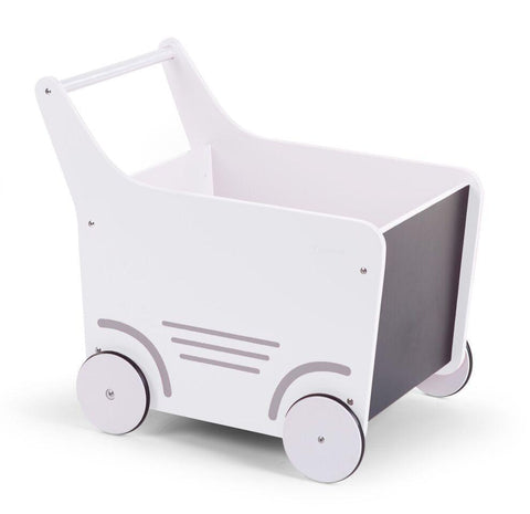 Childhome WOODEN STROLLER WHITE