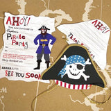 Ahoy There Pirate Invitation & Thank You Set