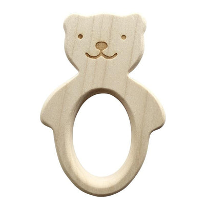 Wooden Teether Bear