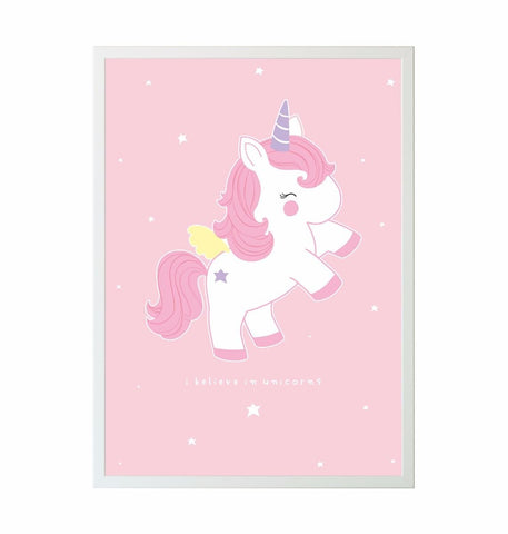 A Little Lovely Company Poster Unicorn