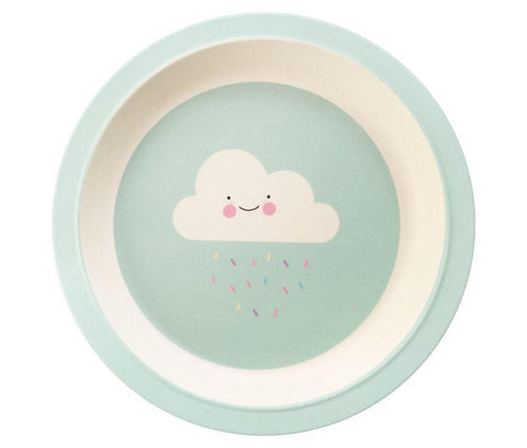 Bamboo Plate - Lovely Cloud