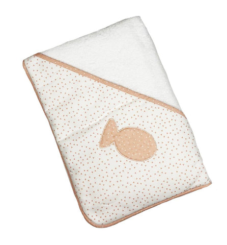 Baby Gi - Bath Towel Little Fish Salmon