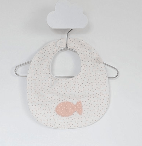 Baby Gi - Bib Little Fish Green Water Salmon