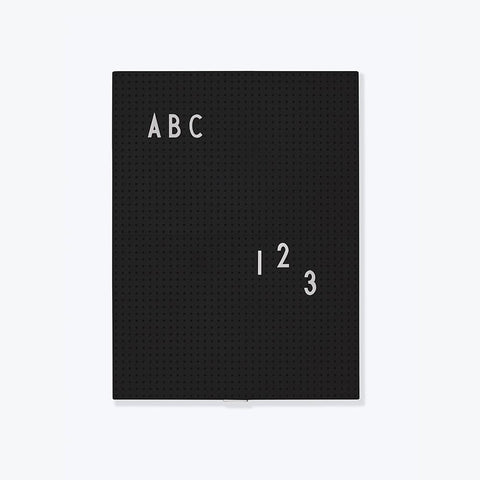 Design Letters - Message Board A4 Black