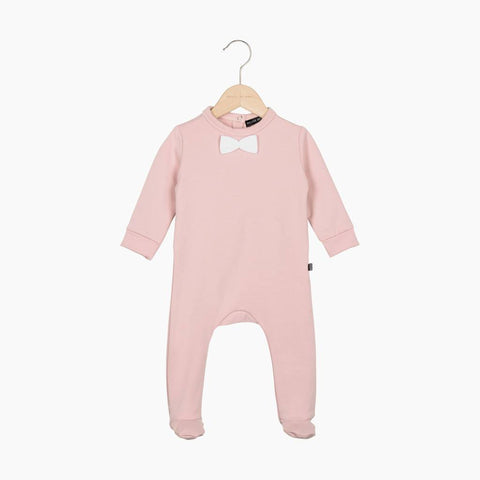 House of Jamie - Bow Tie babysuit Powder Pink