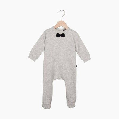 House of Jamie - Bow Tie babysuit Stone