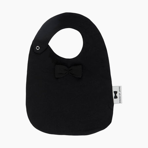 House of Jamie - Bow Tie Bib Black