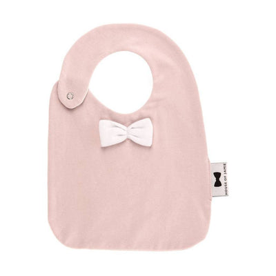 House of Jamie - Bow Tie Bib Powder Pink