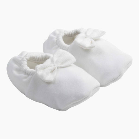 House of Jamie - Bow Tie Booties Snow White