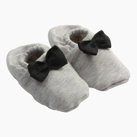 House of Jamie - Bow Tie Booties Stone