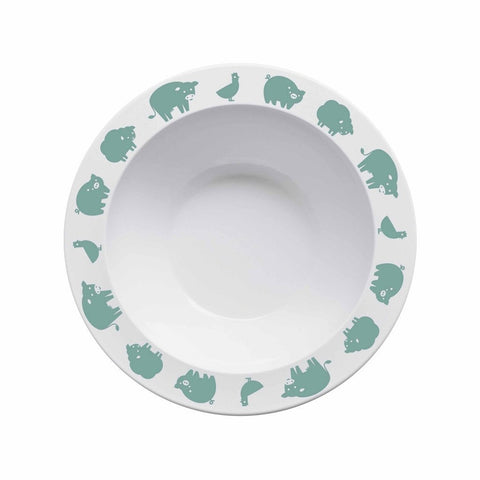 Buddy and Bear Bowl Animals Green