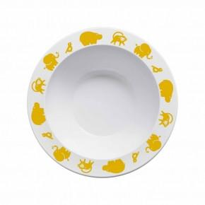 Buddy and Bear Bowl Animals Yellow