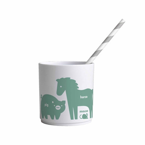 Buddy and Bear Cup Animals Green
