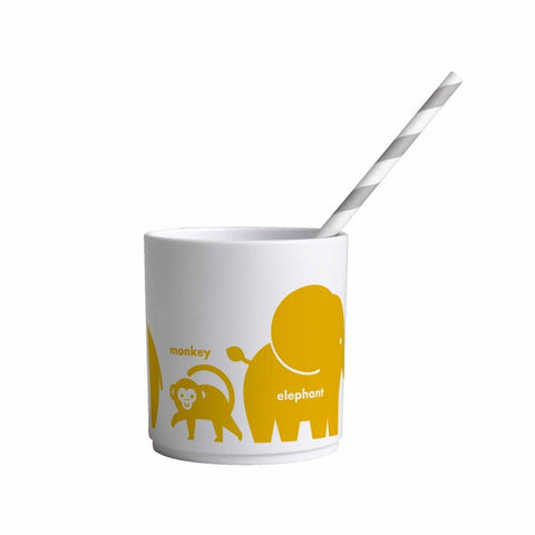 Buddy and Bear Cup Animals Yellow