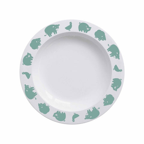 Buddy and Bear Plate Animals Farm Green