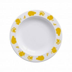 Buddy and Bear Plate Animals Yellow