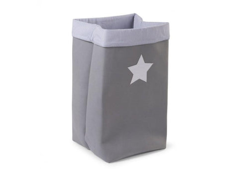Childhome - CANVAS BOX FOLDABLE 32X32X60 CM GREY STRIPES