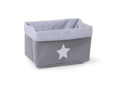 Childhome - CANVAS BOX FOLDABLE 32X20X20 CM GREY STRIPES