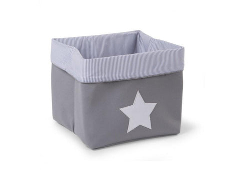 Childhome - CANVAS BOX FOLDABLE 32X32X29 CM GREY STRIPES