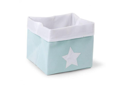 Childhome - CANVAS BOX FOLDABLE 32X32X29 CM MINT WHITE