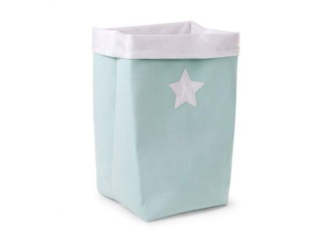 Childhome - CANVAS BOX FOLDABLE 32X32X60 CM MINT WHITE