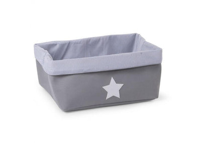 Childhome - CANVAS BOX FOLDABLE 40X30X20 CM GREY STRIPES