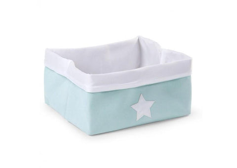 Childhome - CANVAS BOX FOLDABLE 40X30X20 CM MINT WHITE