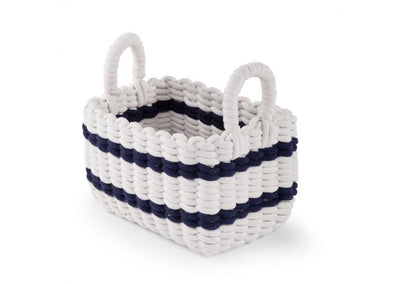 Childhome - ROPE BASKET WHITE / NAVY 32X20X20