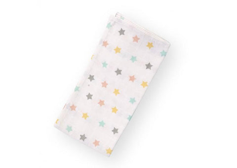 Childhome - SWADDLE TETRA 140X100 PASTEL STARS