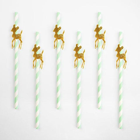 My Little Day - Golden Fawn Straws