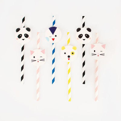 My Little Day - Mini Animals Paper Straws