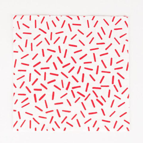 My Little Day - Red Sprinkles Napkins