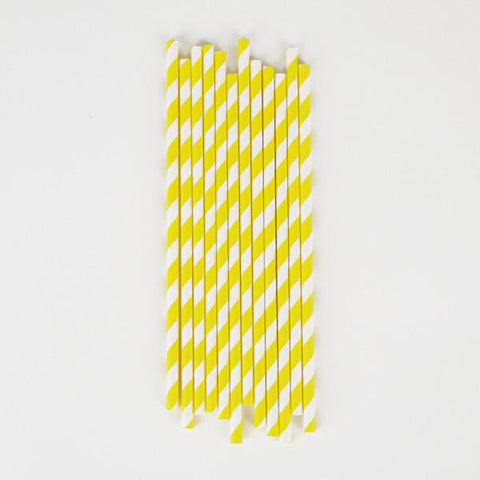 My Little Day - Yellow Stripes Straws
