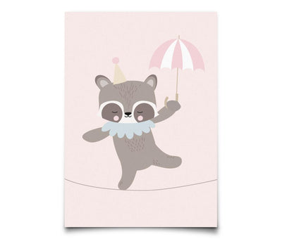 Eef Lillemor - Postcard Circus Raccoon Rope Dancer
