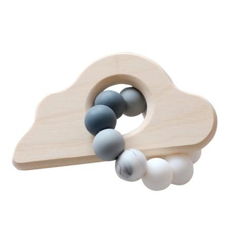 Blossom & Bear - Cloud Wooden Beaded Rattle