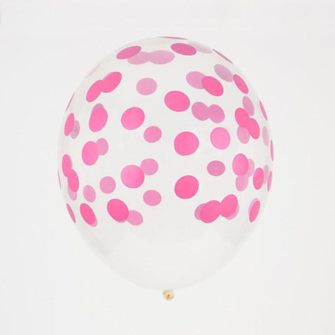 My Little Day 5 printed confetti balloons Fuchsia
