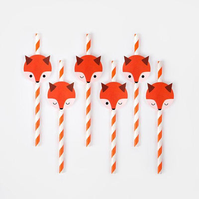My Little Day - Mini Fox Straws
