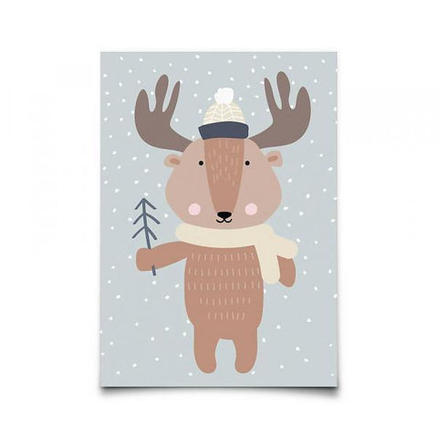 Eef Lillemor - Postcard Winter Moose