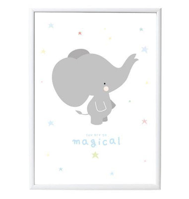 A Little Lovely Company - Poster Grey Elephant