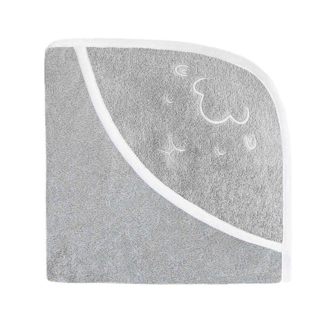 Effiki - Embroided Hooded Towel Sheep Gray