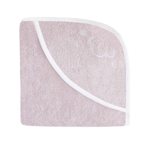 Effiki - Embroided Hooded Towel Sheep Pink
