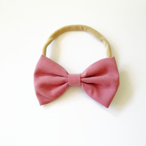 Little Millie - Headband Chloe Bow Old Rose