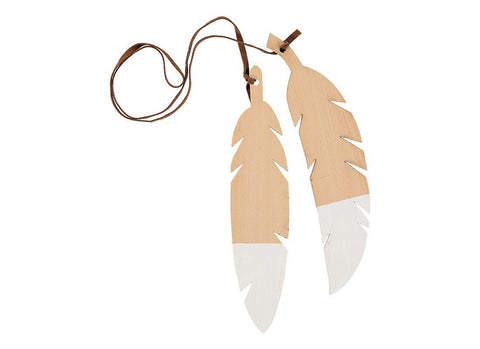 Nobodinoz Feathers duo white