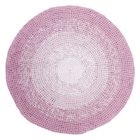 Sebra - Crochet Floor Mat Gradient Rose