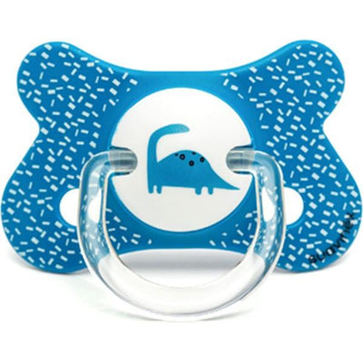 Suavinex - Pacifier Fusion Physiological 4-18 Months Dino Blue