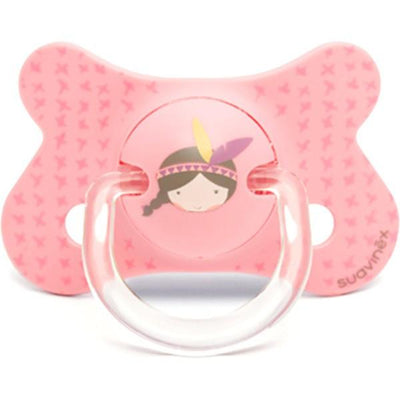 Suavinex - Pacifier Fusion Physiological 4-18 Months Indian Pink