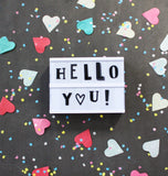 A Little Lovely Company - Lightbox letter set Funky Black