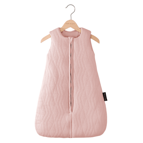 House Of Jamie - Sleeping Bag Baby Geometry Jacquard Powder Pink