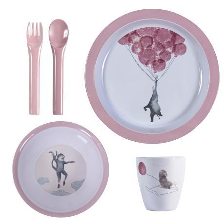 Sebra - Melamine Dinner Set Vintage rose